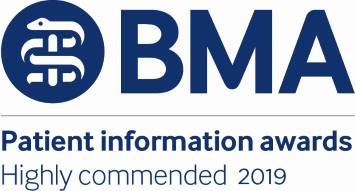 BMA Patient Information Awards Highly Commended 2019